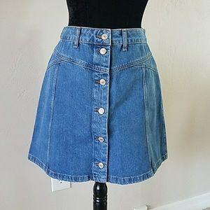 TOPSHOP Moto Hutton front skirt denim